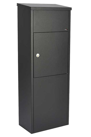 Qualarc ALX-600-BK Top Loading Mail / Parcel Box - Black