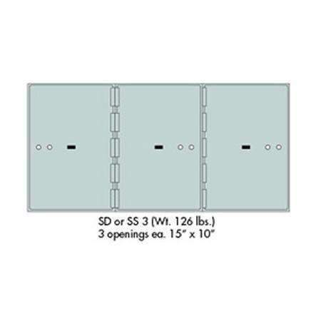 "Safe Deposit Boxes - SafeandVaultStore SD-3 Safe Deposit Boxes 3 - 15"" X 10"" Openings"