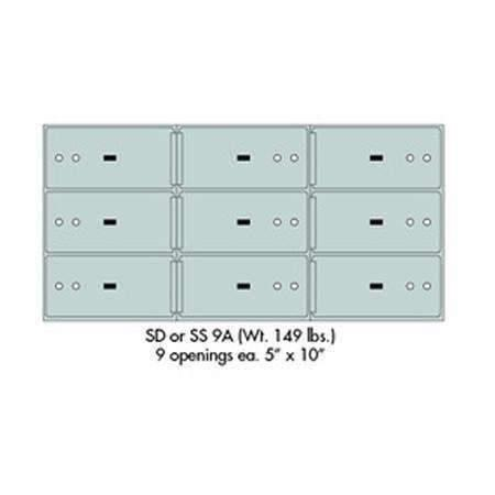 "Safe Deposit Boxes - SafeandVaultStore SD-9A Safe Deposit Boxes (9 - 5"" X 10"" Openings)"