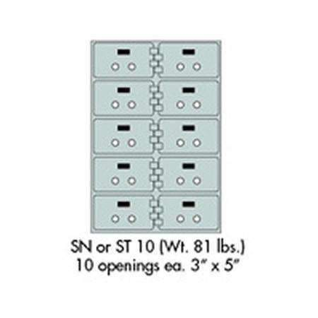 "Safe Deposit Boxes - SafeandVaultStore SN-10 Safe Deposit Boxes 10 - 3"" X 5"" Openings"