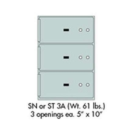"Safe Deposit Boxes - SafeandVaultStore SN-3A Safe Deposit Boxes 3 - 5"" X 10"" Openings"