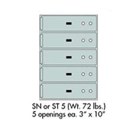 "Safe Deposit Boxes - SafeandVaultStore SN-5 Safe Deposit Boxes 5 - 3"" X 10"" Openings"