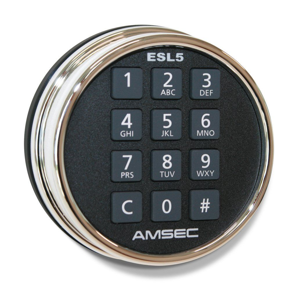 AMSEC ESL5 Illuminated Electronic Lock - Black