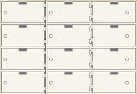 SafeandVaultStore SDBAXSN-12 Single Lock Safe Deposit Boxes