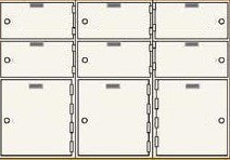 SafeandVaultStore SDBAXSN-9 Single Lock Safe Deposit Boxes