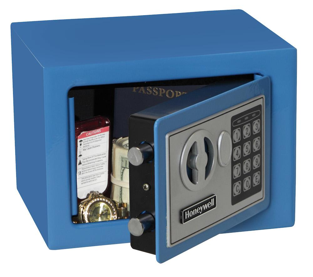 Security Safes - Honeywell 5005B Small Blue Steel Security Safe With Digital Lock