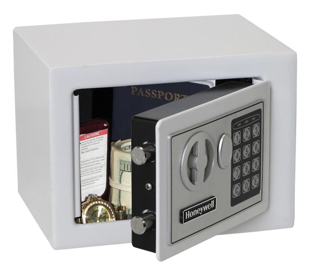 Security Safes - Honeywell 5005W Small White Steel Security Safe With Digital Lock