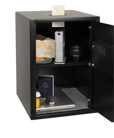 Security Safes - Honeywell 5107SC Digital Security Safe With Depository Slot Faux Wood Door Panel Maple