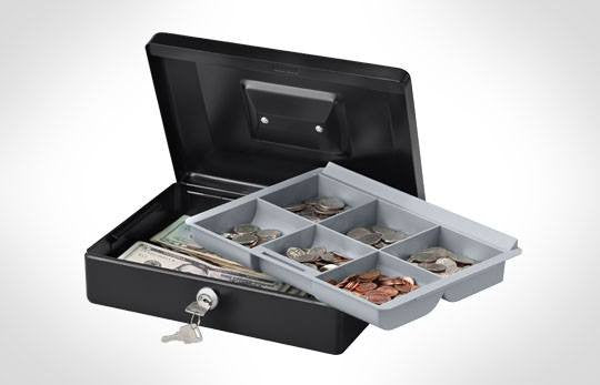 "SentrySafe CB-10 Cash Box 10"" - with Tray"