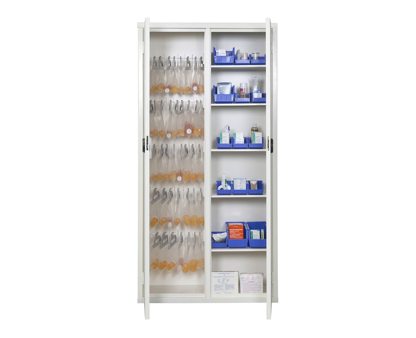 "Storage Cabinet - FireKing 72MSC-RWT 72"" Medical Storage Cabinet With Cam Lock"