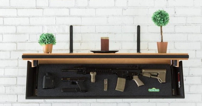 Tactical Walls - Tactical Walls 1242RLS Concealable Rifle Length Shelf