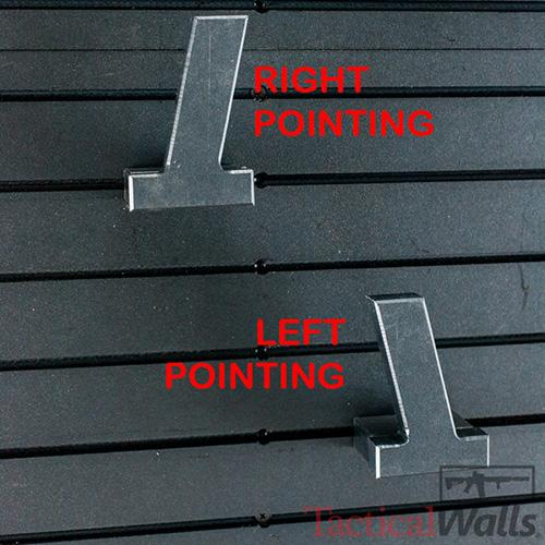 Tactical Walls - Tactical Walls Modwall Pistol Hanger Single Stack - Left Or Right Facing