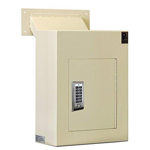 Through The Wall Depository Safe - Protex WDC-160E Wall-Mount Locking Drop Box With Chute