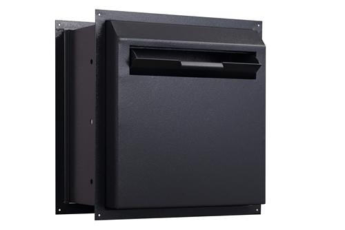 Through The Wall Depository Safe - Protex WDD-180-Black Drop Box