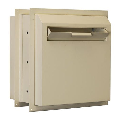 Through The Wall Depository Safe - Protex WDD-180E Drop Box With Electronic Lock