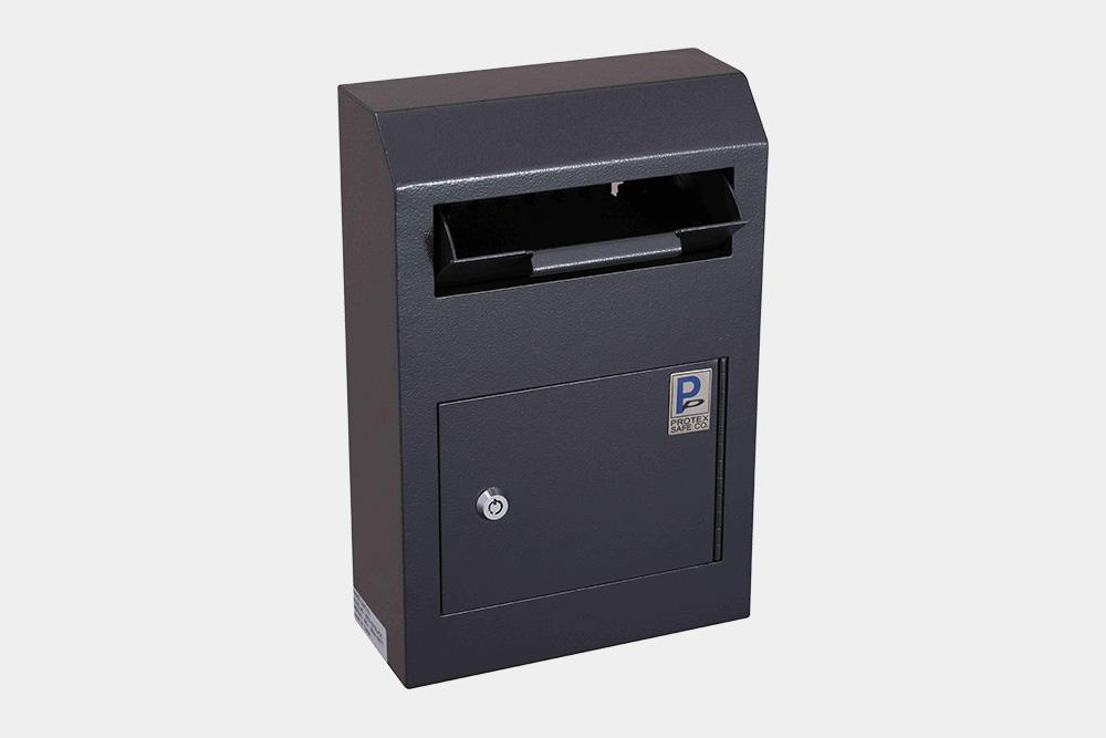 Through The Wall Depository Safe - Protex WDS-150 Wall-Mount Locking Payment Drop Box