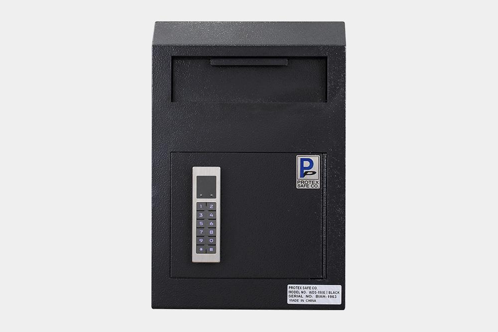 Through The Wall Depository Safe - Protex WDS-150E II Wall Mount Drop Box With Electronic Lock