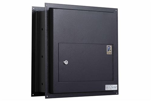 Through The Wall Depository Safe - Protex WDS-311-Black Through-The Wall Locking Drop Box