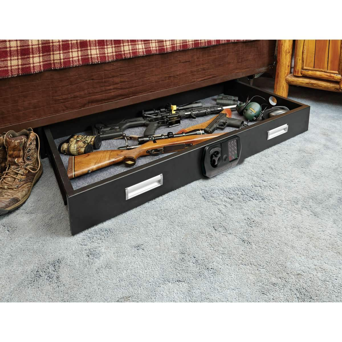 Under Bed Gun Safes - SNAPSAFE Under Bed Gun Safe XXL