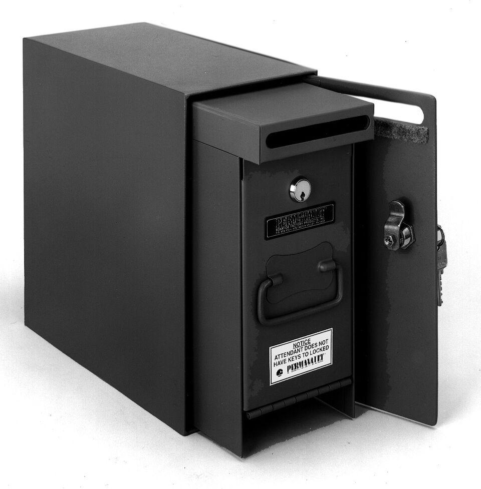 Under Counter Safes - Perma-Vault PRO-1200-M Dual Compartment Drop Safe With Medeco Key Lock