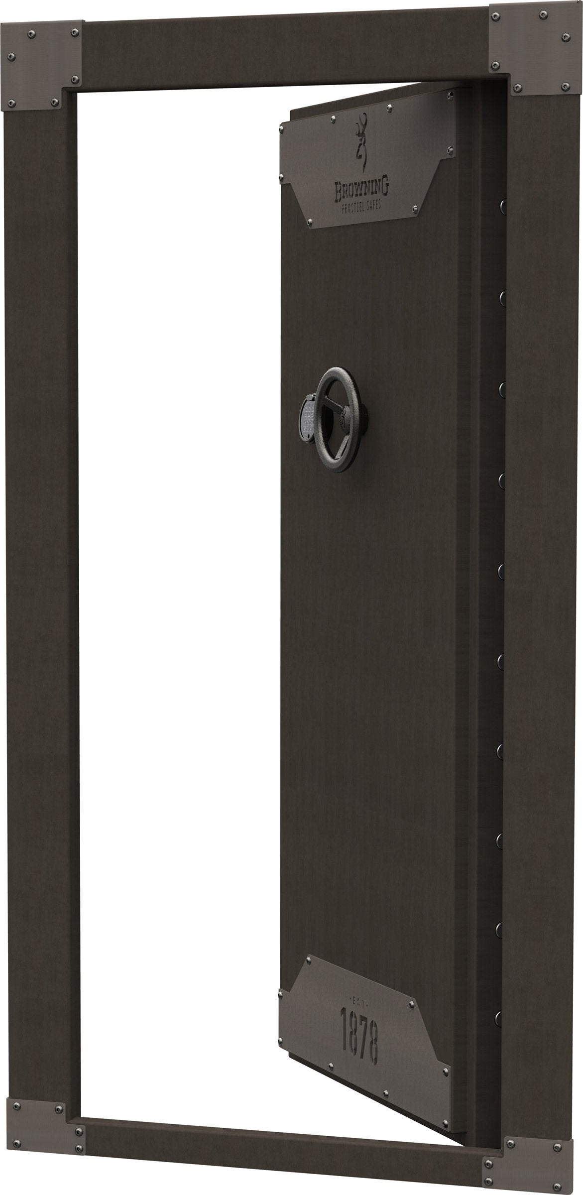 Vault Doors - Browning 1878 Clamshell Vault Door Metal Glaze - In-Swing - 1601100340