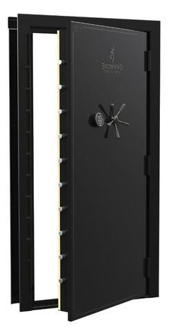 "Vault Doors - Browning Universal Vault Door - Out-Swing 83.00"" X 36.00"" - Black Gloss"