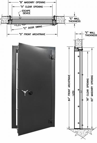 Vault Doors For Panic Rooms & Walk-In Safes - Access 7832-2 Insulated Vault Door
