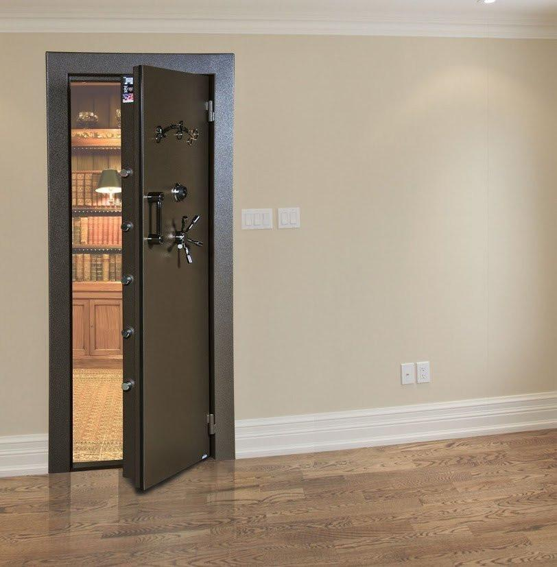 Vault Doors For Panic Rooms & Walk-In Safes - AMSEC VD8030BFIS Burglar & Fire Resistant In-Swing Vault Door