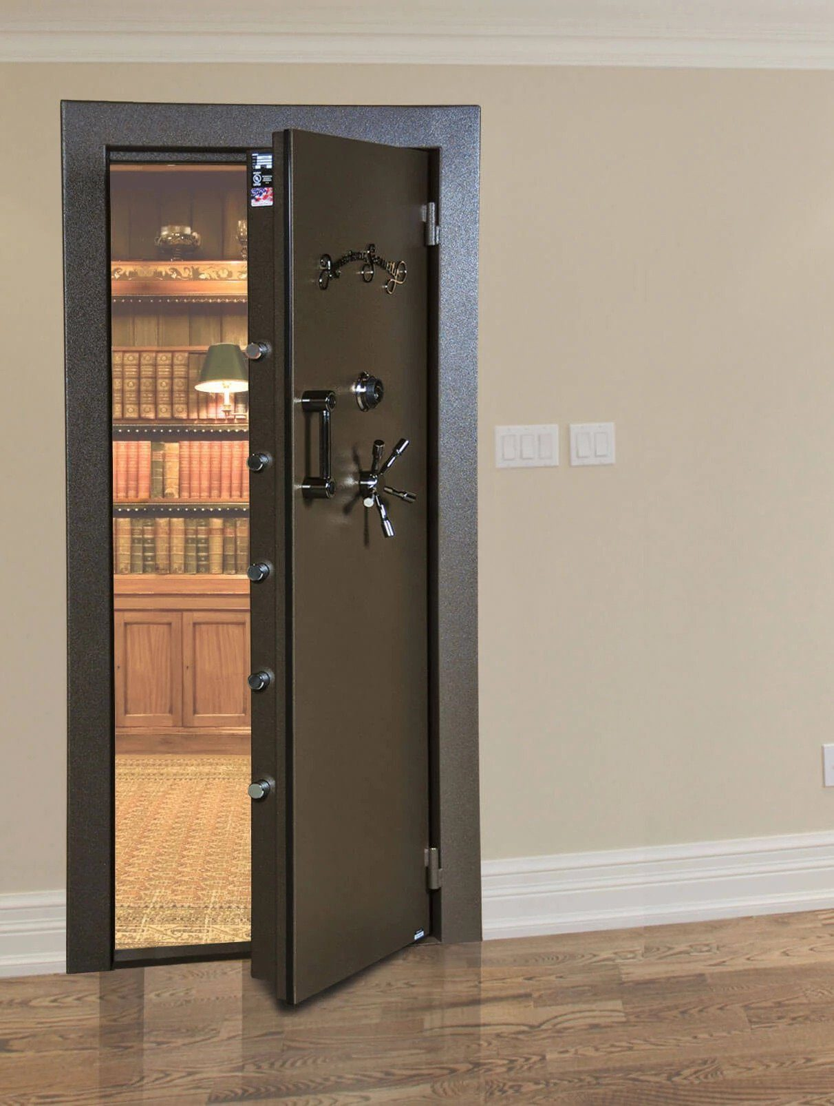 Vault Doors For Panic Rooms & Walk-In Safes - AMSEC VD8036BFIS Burglar & Fire Resistant In-Swing Vault Door