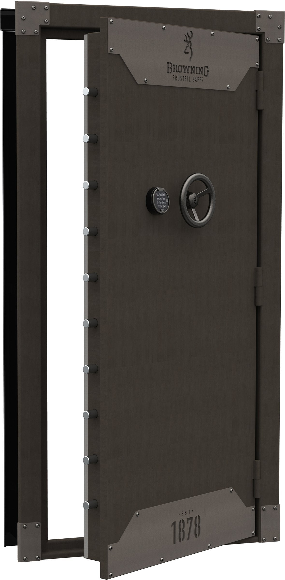 Vault Doors For Panic Rooms & Walk-In Safes - Browning 1878 Clamshell Vault Door Metal Glaze - Outswing - 1601100339