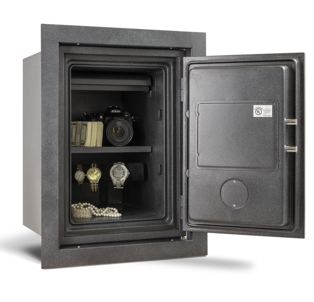 AMSEC WFS149 Fireproof Wall Safe Door Wide Open Full