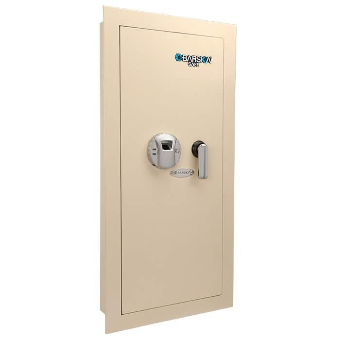 Wall Safes - Barska AX12880 Biometric Wall Safe White Left Hand Swing