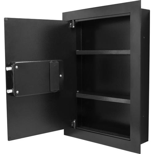 Wall Safes - Barska AX13034 Left Opening Biometric Wall Safe