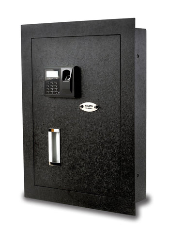 Wall Safes - Viking VS-52BLX Hidden In Wall Safe Biometric Safe