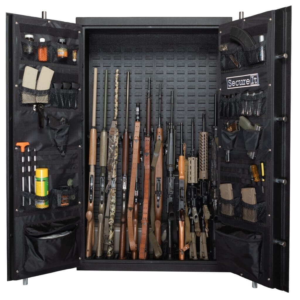 Weapon Cabinets - SecureIt ANS-59-12TD Answer Series Model 12 Heavy Duty Ultralight Gun Safe
