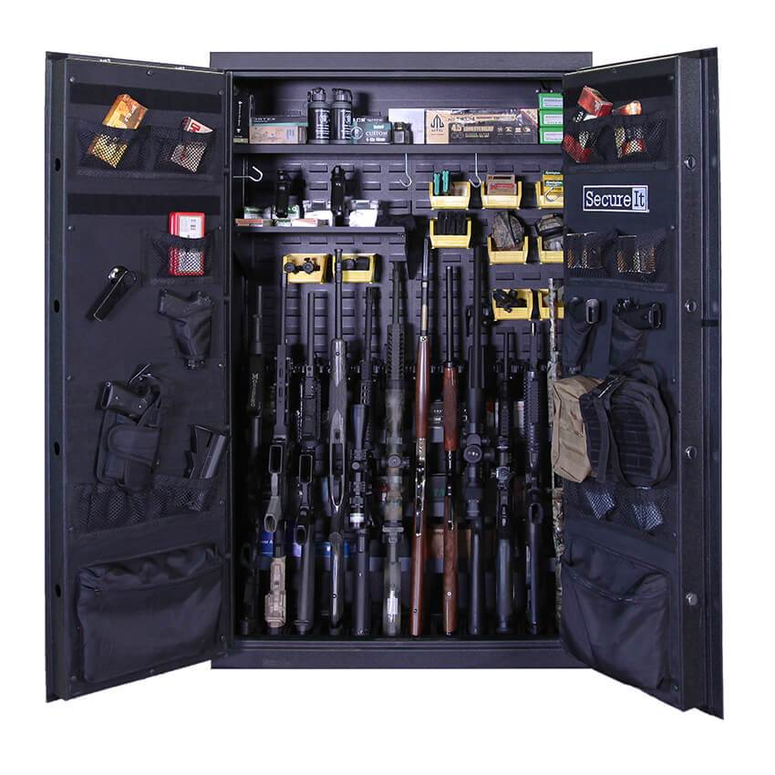 Weapon Cabinets - SecureIt ANS-59-12TD-PRO-YLW Answer Series Model 12 Pro Heavy Duty Ultralight Gun Safe