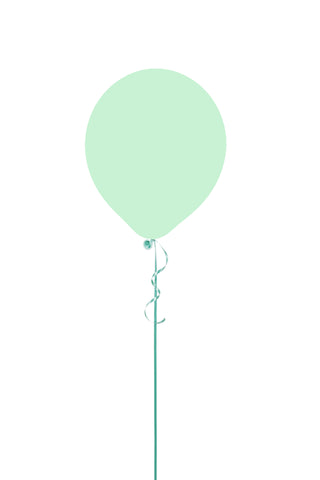 "12"" Macaron Mint Green Latex Balloon"