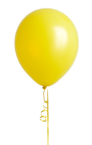 "12"" Yellow Latex Balloon"