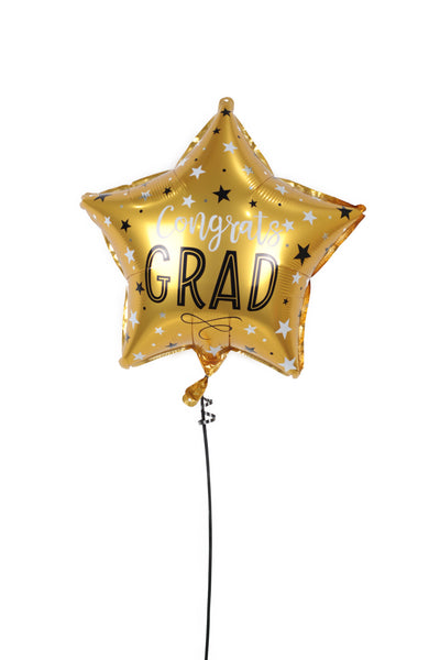 Star Shaped Graduation Foil Balloon