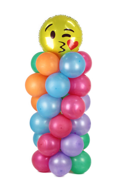 Colorful Balloons with Kissing Emoji