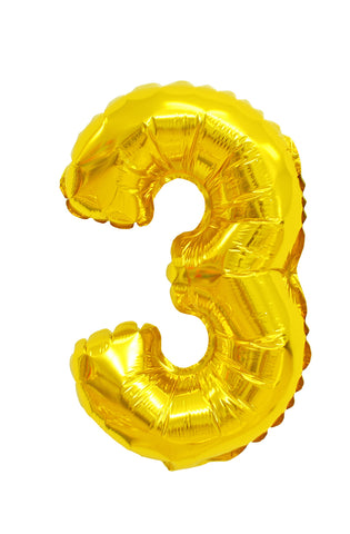 Number 3 shaped foil balloon