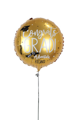 Gold Graduation Foil Balloon
