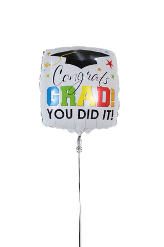 Square Graduation Foil Balloon
