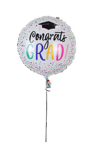 Sprinkled Dot's Graduation Foil Balloon