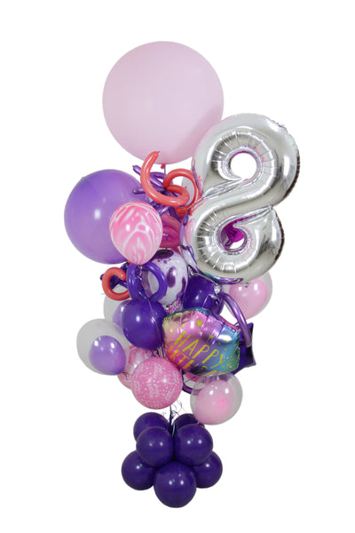 Purple Birthday Balloon Bouquet
