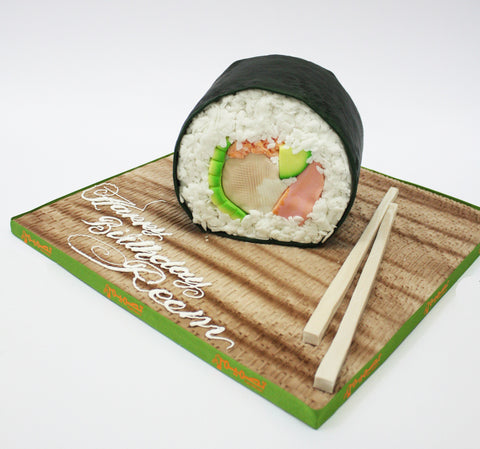 Sushi Roll Shaped Cake