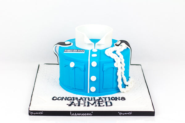 School Uniform Cake - كيكة تخرج