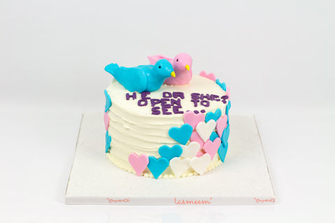 Blue or Pink! Gender Reveal Cake