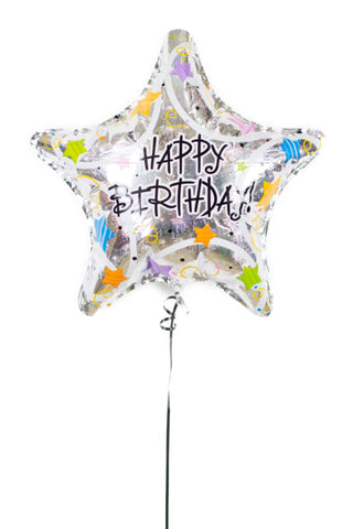 Happy Birthday Star Foil Balloon