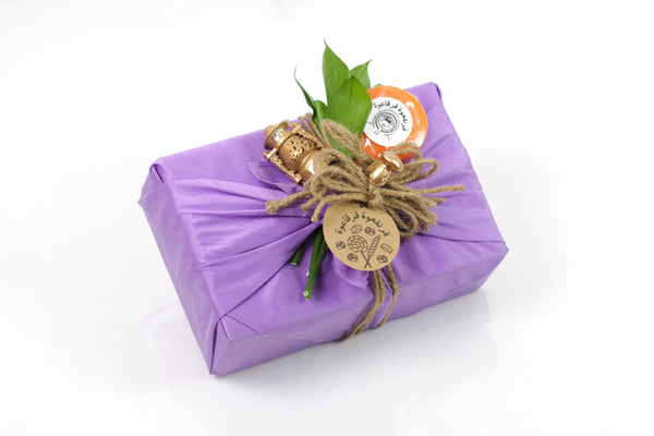 Purple Fabric Garangao Gift Box